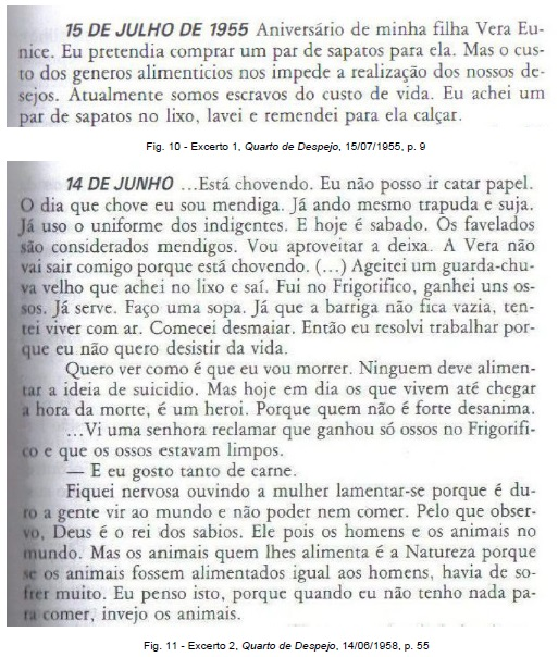 Fig. 11 - Excerto 2, Quarto de Despejo, 14/06/1958, p. 55