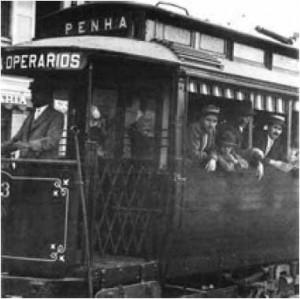 Bonde na Av. Celso Garcia em 1916