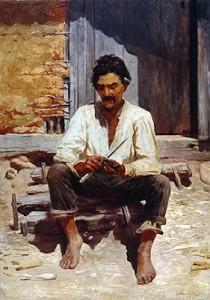 Caipira Picando Fumo - Almeida Junior (1893)